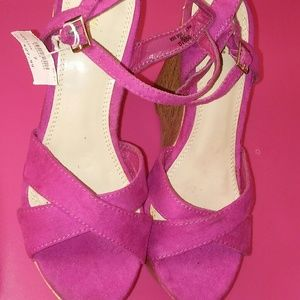 Shoes - Pink Wedge Heels